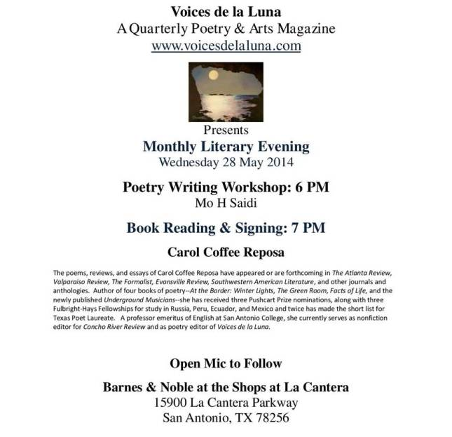 B & N Monthly Poetry Event-Wed 28 May 2014-page-001